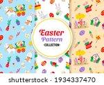 seamless easter pattern vector... | Shutterstock .eps vector #1934337470