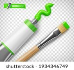 vector realistic green paint...   Shutterstock .eps vector #1934346749