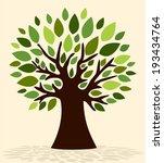spring tree | Shutterstock .eps vector #193434764