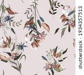 pink pastel blooming  flowers... | Shutterstock .eps vector #1934357513