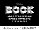 white book pages style font ... | Shutterstock .eps vector #1934364329