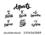 astrology aspects   natal birth ...   Shutterstock .eps vector #1934365889