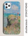 Smartphone case public domain painting product showcase, remix of artwork by Claude Monet
