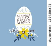 happy easter greeting card with ... | Shutterstock .eps vector #1934386676