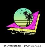 california surf typography for...   Shutterstock .eps vector #1934387186