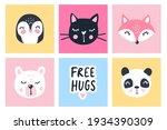 vector set with cartoon animals ... | Shutterstock .eps vector #1934390309