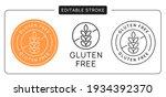 gluten free vector icon sticker ... | Shutterstock .eps vector #1934392370
