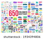big collection of colored paint ... | Shutterstock .eps vector #1934394806