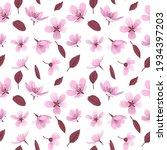 cherry blossom flowers vector...   Shutterstock .eps vector #1934397203