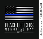 peace officers memorial day is...   Shutterstock .eps vector #1934400620