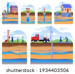 layers of land with underground ... | Shutterstock .eps vector #1934403506