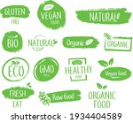 bio natural product emblems or... | Shutterstock .eps vector #1934404589