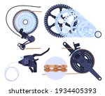 a set of details for a bicycle... | Shutterstock .eps vector #1934405393