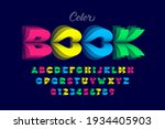 color book pages style font ... | Shutterstock .eps vector #1934405903