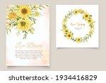 beautiful sunflower invitation... | Shutterstock .eps vector #1934416829