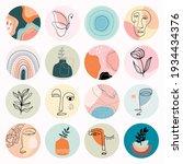 abstract social media highlight ... | Shutterstock .eps vector #1934434376