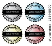 set of nature product labels | Shutterstock . vector #193445570
