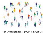 city street. crowd.  different... | Shutterstock .eps vector #1934457350