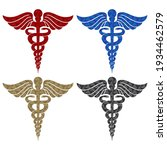 caduceus medical symbol with... | Shutterstock .eps vector #1934462579