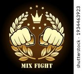 mix fight competition emblem ... | Shutterstock .eps vector #1934463923