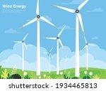 turbine wind power green energy ...   Shutterstock .eps vector #1934465813
