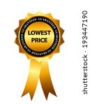 lowest price guarantee gold... | Shutterstock .eps vector #193447190