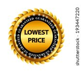 lowest price guarantee gold... | Shutterstock .eps vector #193447220