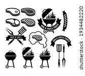 barbecue party emblem  bbq and...   Shutterstock .eps vector #1934482220