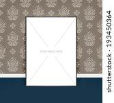 vector poster template of a... | Shutterstock .eps vector #193450364