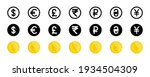 currency vector icons. world...