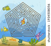 maze game for kids and adults....   Shutterstock .eps vector #1934508056