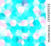 hexagon grid blue pink seamless ...