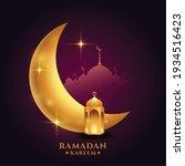 ramadan kareem background with... | Shutterstock .eps vector #1934516423