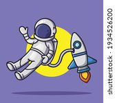 cute astronaut floating in... | Shutterstock .eps vector #1934526200