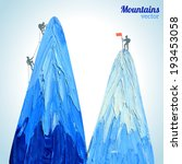 vector hand drawn snow peak... | Shutterstock .eps vector #193453058