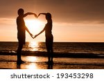 silhouette of two people in...   Shutterstock . vector #193453298