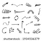 vector set of hand drawn arrows ... | Shutterstock .eps vector #1934536379