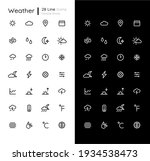 weather linear icons set for...