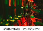 close up beer pumps taps in pub ... | Shutterstock . vector #1934547290