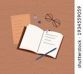 notebook. planning. notepad... | Shutterstock .eps vector #1934559059