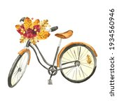 Watercolor Vintage Bicycle With ...
