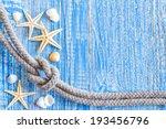 Marine Rope With Sea Shells On...