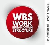 wbs   work breakdown structure... | Shutterstock .eps vector #1934570216