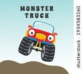 vector illustration of monster... | Shutterstock .eps vector #1934583260