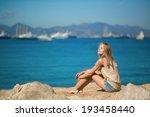 beautiful young woman relaxing... | Shutterstock . vector #193458440