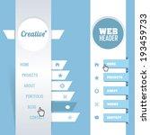 vector vertical header web menu ... | Shutterstock .eps vector #193459733