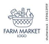 farmer's market. stylish design.... | Shutterstock .eps vector #1934613959