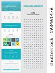 one page website design... | Shutterstock .eps vector #193461476