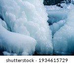 Melting Ice Glacier. Ice Floe...