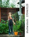 portrait of a boy working in... | Shutterstock . vector #193463123